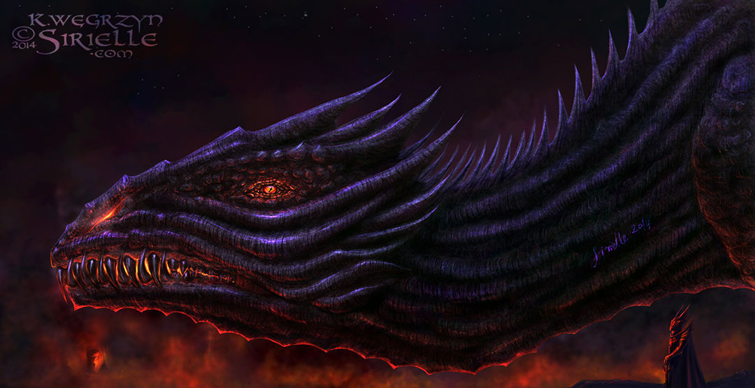 Balerion the Black Dread of 'A Song of Ice and Fire' by G.R.R. Martin